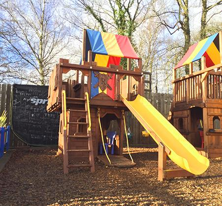 Rainbow Palace Wooden Climbing Frame Full