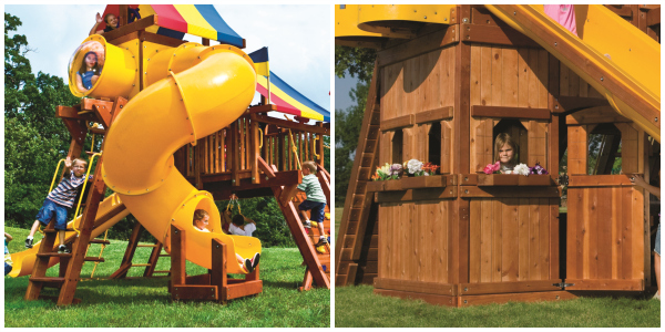 Spiral And Playhouse Big And Little Kids